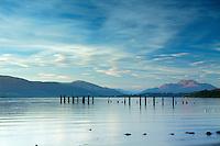 Ben Lomond and Loch Lomond from Loch Lomond Shores, Balloch, Loch Lomond and the Trossachs National Park, West Dunbartonshire