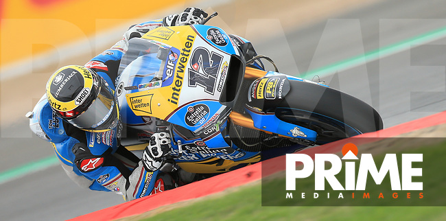 Franco Morbidelli (21) of the EG 0 0 Marc VDS (Honda) race team during the GoPro British MotoGP at Silverstone Circuit, Towcester, England on 24 August 2018. Photo by Chris Brown / PRiME Media Images