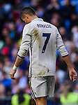 Cristiano Ronaldo of Real Madrid reacts during their La Liga match between Real Madrid and Deportivo Leganes at the Estadio Santiago Bernabéu on 06 November 2016 in Madrid, Spain. Photo by Diego Gonzalez Souto / Power Sport Images