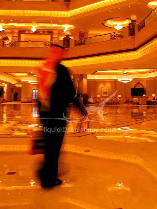 The Emirates Palace (Arabic: ??? ????????) is a luxury hotel located in the United Arab Emirates (UAE) city of Abu Dhabi..It opened in November 2005 but certain restaurants and spas did not open until 2006. The hotel was built by and is owned by the Abu Dhabi government, and is currently being managed by the Kempinski Group..The costs to build the hotel was 3 billion USD or 11.02 billion AED. The Emirates Palace occupies 850,000m2 of floor space. Underground parking allows housing for 2,500 vehicles. There are two swimming pools and spas. The hotel has its own marina and helipad. According to the New York Times, the Emirates Palace is reputed to be the most expensive hotel ever built..The exterior of the hotel has 114 domes that are 60 meters high..Many of the suites offered are furnished in gold and marble. The main central area houses an expansive marble floor, balconies and a large patterned dome above, picked out in gold. The topmost floor has six rulers' suites which are only offered to the royal families of the UAE. The hotel also contains a large conference centre..Overall, the hotel has 302 rooms and 92 suites. But, the hotel has 16 Palace Suites on the sixth and seventh floors. 22 three-bedroom suites are reserved for hosting many heads of state and their guests. The cost of staying begins at $400 per night for the Coral Room (floor space of 592 square feet); and The Palace Grand Suite (7319 square feet) is the most expensive at $11,500 per night.