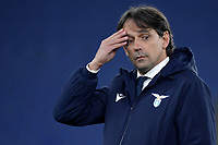 Simone Inzaghi coach of SS Lazio reacts during the Champions League round of 16 football match between SS Lazio and Bayern Munchen at stadio Olimpico in Rome (Italy), February, 23th, 2021. Photo Andrea Staccioli / Insidefoto
