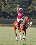 WELLINGTON, FL - FEBRUARY 19: Julian de Lusarreta twirls his mallet in celebration after Coca Cola 9 defeats Tonkawa 8 in overtime with a Golden Goal on a Penalty 2 by Julio Arellano, in the William Ylvisaker Cup Final, at the International Polo Club, Palm Beach on February 19, 2017 in Wellington, Florida. (Photo by Liz Lamont/Eclipse Sportswire/Getty Images)