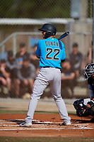 Miami Marlins Joe Dunand (22) during a Minor League Spring Training Intrasquad game on March 28, 2019 at the Roger Dean Stadium Complex in Jupiter, Florida.  (Mike Janes/Four Seam Images)
