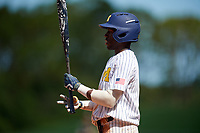 Michigan Wolverines right fielder Christan Bullock (5) at bat during a game against Army West Point on February 18, 2018 at Tradition Field in St. Lucie, Florida.  Michigan defeated Army 7-3.  (Mike Janes/Four Seam Images)