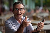 Jornalista Manoel Dutra posa durante entrevista ao portal Amazônia Real.<br /> Belém, Pará, Brasil.<br /> Foto Paulo Santos