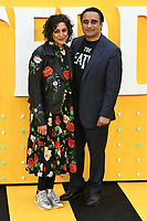 """Meera Syal and Sanjeev Baskhar<br /> arriving for the """"Yesterday"""" UK premiere at the Odeon Luxe, Leicester Square, London<br /> <br /> ©Ash Knotek  D3510  18/06/2019"""