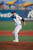Brooklyn Cyclones pitcher Garrison Bryant (35) during a NY-Penn League game against the Tri-City ValleyCats on August 17, 2019 at MCU Park in Brooklyn, New York.  Brooklyn defeated Tri-City 2-1.  (Mike Janes/Four Seam Images)
