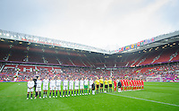 Manchester, England - July 31, 2012: The USA Women's soccer team 1-0 over North Korea during the opening round of the Olympic football tournament at Old Trafford.