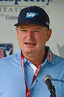 April 29th 2021, The Woodlands, Texas USA;  Ernie Els speaks to reporters during a press conference before the preview of the 2021 Insperity Invitational at The Woodlands Country Club on April 29, 2021 in The Woodlands, Texas.
