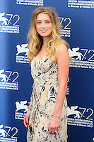 Amber Heard attends the photocall for the movie 'The Danish Girl' during 72nd Venice Film Festival at the Palazzo Del Cinema in Venice, Italy, September 5, 2015. <br /> UPDATE IMAGES PRESS/Stephen Richie