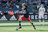 FOXBOROUGH, MA - MARCH 7: Henry Kessler #4 of New England Revolution during a game between Chicago Fire and New England Revolution at Gillette Stadium on March 7, 2020 in Foxborough, Massachusetts.
