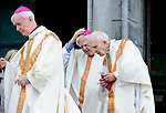 Bishop Willie Walsh, former Bishop of Killaloe is among the bishops at the funeral of Bishop Eamonn Casey at Galway cathedral. Photograph by John Kelly.