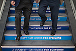 © Joel Goodman - 07973 332324 . 02/10/2016 . Birmingham , UK . Delegates at the Conservative Party Conference at the ICC , on the first day of the Conservative Party Conference at the International Convention Centre in Birmingham . Photo credit : Joel Goodman