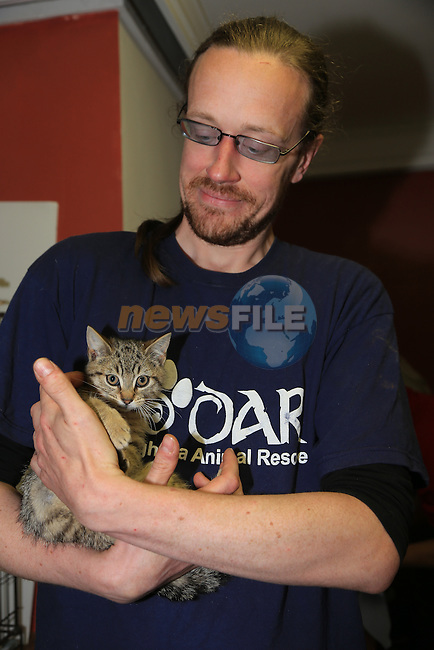 john abelardo<br /> at the DAR cat rehomeing day<br /> Picture:  Fran Caffrey / www.newsfile.ie