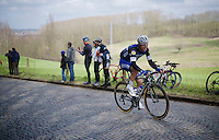 Tony Martin (DEU/Ettix-Quickstep) up the first climb of the day; the Katteberg<br /> <br /> E3 - Harelbeke 2016