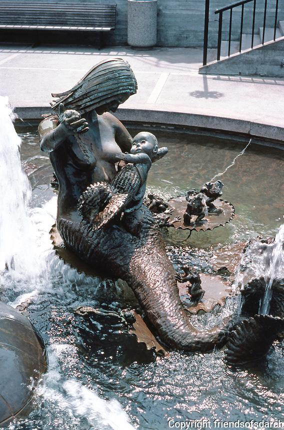 San Francisco: Ghirardelli Square--Fountain Sculpture.  Photo '84.