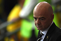 KAZAN - RUSIA, 06-07-2018: Gianni Infantino presidente de FIFA es visto durante partido de cuartos de final entre Brasil y Bélgica por la Copa Mundial de la FIFA Rusia 2018 jugado en el estadio Kazan Arena en Kazán, Rusia. / Gianni Infantino ceo of FIFA is seen during the match between Brazil and Belgium of quarter final for the FIFA World Cup Russia 2018 played at Kazan Arena stadium in Kazan, Russia. Photo: VizzorImage / Julian Medina / Cont