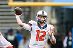 Illinois Fighting Illini quarterback Wes Lunt (12) in action during the Heart of Dallas Bowl Bowl game between the Illinois Fighting Illini and the Louisiana Tech Bulldogs at the Cotton Bowl Stadium in Dallas, Texas. Louisiana defeats Illinois 35 to 18.