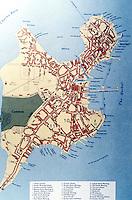 Utopia:  Boston map--1770.  ATLAS OF EARLY AMERICAN HISTORY.