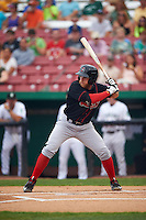 Great Lakes Loons third baseman Matt Beaty (10) at bat during a game against the Kane County Cougars on August 13, 2015 at Fifth Third Bank Ballpark in Geneva, Illinois.  Great Lakes defeated Kane County 7-3.  (Mike Janes/Four Seam Images)