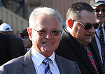 September 20, 2014: Trainer Art Sherman, with his son and assistant trainer Alan Sherman, watch as California Chrome circles the walking ring before the Grade II Pennsylvania Derby at Parx Racing in Bensalem, PA.  Joan Fairman Kanes/ESW/CSM