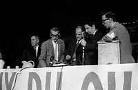 Rassemblement des fonctionnaires provinciaux, entre le 7 et le 23 Juin 1968, au Colisee de Quebec<br /> <br /> Photo : AQP - Photo moderne