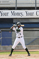 Tim Beckham of the Princeton Devil Rays hits against the Greeneville Astros in an Appalachian League game at Hunnicutt Field in Princeton, WV on July 20, 2008