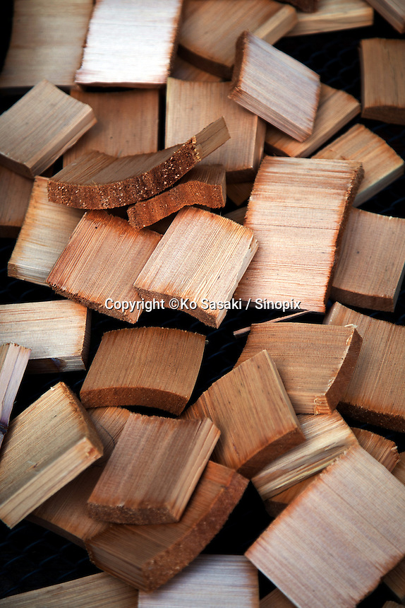 Wooden material of making wooden buckets at Okeei