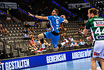Dominik Weiss (TVB Stuttgart #6) ; BGV Handball Cup 2020 Finaltag: TVB Stuttgart vs. FRISCH AUF Goeppingen am 13.09.2020 in Stuttgart (PORSCHE Arena), Baden-Wuerttemberg, Deutschland<br /> <br /> Foto © PIX-Sportfotos *** Foto ist honorarpflichtig! *** Auf Anfrage in hoeherer Qualitaet/Aufloesung. Belegexemplar erbeten. Veroeffentlichung ausschliesslich fuer journalistisch-publizistische Zwecke. For editorial use only.