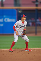 Reading Fightin Phils shortstop Arquimedes Gamboa (7) during an Eastern League game against the Akron RubberDucks on June 4, 2019 at Canal Park in Akron, Ohio.  Akron defeated Reading 8-5.  (Mike Janes/Four Seam Images)
