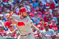 24 May 2015: Philadelphia Phillies first baseman Darin Ruf in action during a game against the Washington Nationals at Nationals Park in Washington, DC. The Nationals defeated the Phillies 4-1 to take the rubber game of their 3-game weekend series. Mandatory Credit: Ed Wolfstein Photo *** RAW (NEF) Image File Available ***