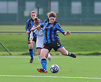 Club Brugge Dames - Rassing Harelbeke : Jasmine Vanysacker aan de bal.foto DAVID CATRY / Vrouwenteam.Be