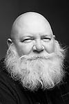 Portrait of bald man with beard