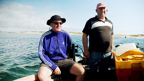 Peter Knox (left) and Turbot islander John O'Toole