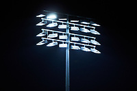 A detailed view of the LED lights during the game between the Miami Hurricanes and the North Carolina Tar Heels in the second semifinal of the 2017 ACC Baseball Championship at Louisville Slugger Field on May 27, 2017 in Louisville, Kentucky. The Tar Heels defeated the Hurricanes 12-4. (Brian Westerholt/Four Seam Images)