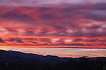 Colorful sky and clouds at sunset in Missoula, Montana