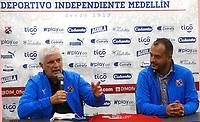 MEDELLÍN - COLOMBIA, 09-09-2021:Julio Comesaña nuevo director técnico del Independiente Medellín  . / Julio Comesana new coach of Independiente Medellin.  . Photo: VizzorImage / Luis Benavides / Contribuidor
