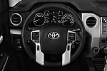 Car pictures of steering wheel view of a 2018 Toyota Tundra TRD Sport Crew Cab 4 Door Pick Up