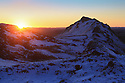 15/01/16<br /> <br /> After a dusting of snow and sub-zero overnight temperatures, dawn breaks over Chrome Hill in the upper Dove Valley in the Derbyshire Peak District.<br /> <br /> <br /> All Rights Reserved: F Stop Press Ltd. +44(0)1335 418365   www.fstoppress.com.