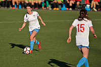 Portland, OR - Sunday March 11, 2018: Taylor Comeau during a National Women's Soccer League (NWSL) pre season match between the Portland Thorns FC and the Chicago Red Stars at Merlo Field.