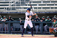 CARY, NC - FEBRUARY 23: Matt Wood #27 of Penn State University waits for a pitch during a game between Wagner and Penn State at Coleman Field at USA Baseball National Training Complex on February 23, 2020 in Cary, North Carolina.