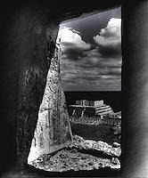 Temple of The Warriors East of El Castillo Chichen Itza C. 600-900 AD. Mexico