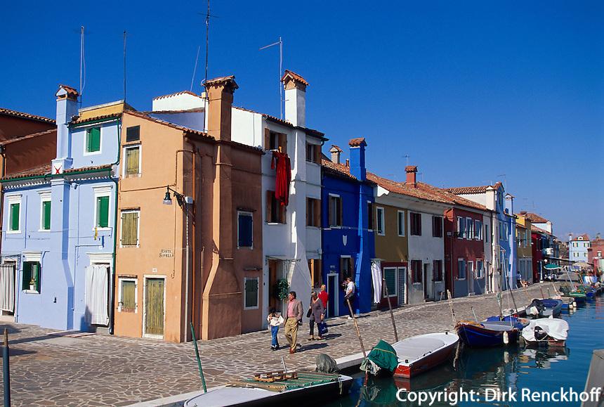 Burano bei Venedig, Italien, Unesco-Weltkulturerbe