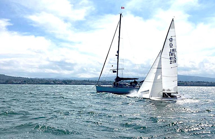 Kinsale's James Matthews wins the second race of the Dragon East Coast Championships at the Royal St. George Yacht Club