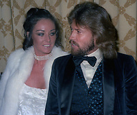 Barry Gibb and wife Linda Gibb at the American Music Awards on January 12, 1979<br />