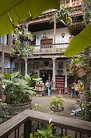 Europe/Espagne/Iles Canaries/Tenerife/ La Orotava:   détail Patio de la Casa de los Balcones