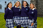 Students graduating from Presentation Secondary School Castleisland on Monday. L to r: Katie O'Connor, Ava Flaherty, Lauren Butler and Maria Daly.