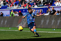 HARRISON, NJ - MARCH 08: Emi Nakajima #7 of Japan during a game between England and Japan at Red Bull Arena on March 08, 2020 in Harrison, New Jersey.