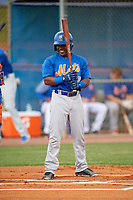 New York Mets Luis Santana (7) during a Minor League Spring Training intrasquad game on March 29, 2018 at the First Data Field Complex in St. Lucie, Florida.  (Mike Janes/Four Seam Images)