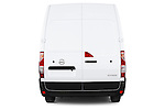 Straight rear view of2015 Nissan NV 400 Business 4 Door Cargo Van Rear View  stock images
